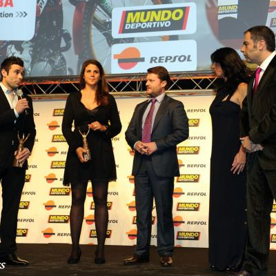 23ENERO2012 Entrega de los premios a los mejores deportistas españoles 2011. Toni Bou y Laia Sanz.Foto: Manel Martin.