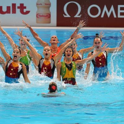 27JULIO2013 Medalla de plata en combo y Ona Carbonell que ganó siete medallas. Italia. Foto: Manel Martin.
