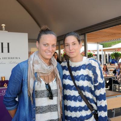 28ABRIL2013 Open Banc Sabadell -61º Trofeo Conde de Godó. Las waterpolistas Jennifer Pareja (i) y Laura Ester (d). Foto: Montse Carreño.