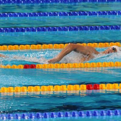 28JULIO2013 España, Francia, Estados Unidos y China protagonistas en el primer día de natación. Yang Sun. 400 estilos. Foto: Manel Martin.