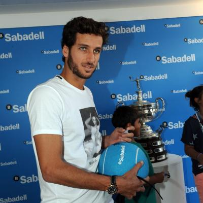 28ABRIL2013 Open Banc Sabadell -61º Trofeo Conde de Godó. Feliciano López. Foto: Manuel Martin.