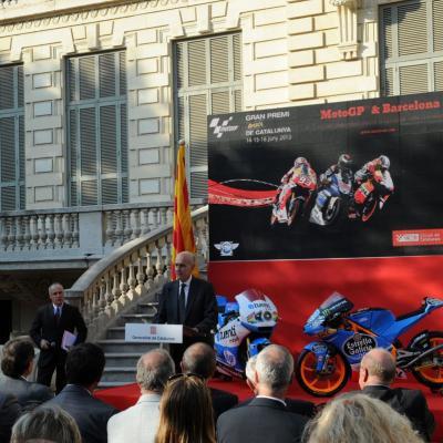 11JUNIO2913 Presentación del GP de Catalunya de Motociclismo. Vicenç Aguilera. Foto: Manel Martin.