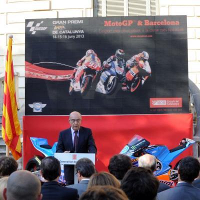 11JUNIO2913 Presentación del GP de Catalunya de Motociclismo. Carmelo Ezpeleta. Foto: Manel Martin.