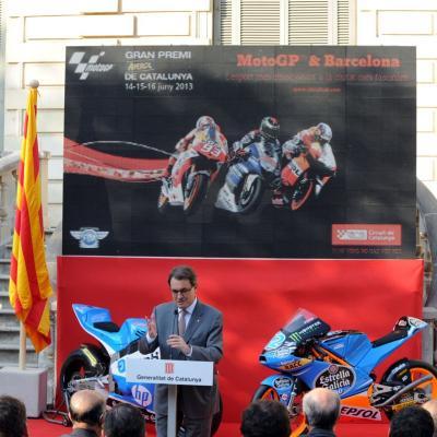 11JUNIO2913 Presentación del GP de Catalunya de Motociclismo. Artur Mas. Foto: Manel Martin.