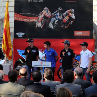 11JUNIO2913 Presentación del GP de Catalunya de Motociclismo. Pilotos de Moto3. Foto: Manel Martin.