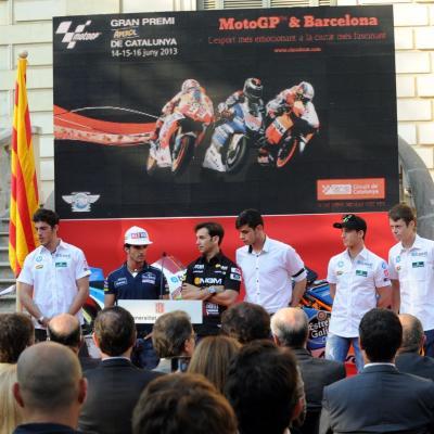 11JUNIO2913 Presentación del GP de Catalunya de Motociclismo.Pilotos de Moto2.  Foto: Manel Martin.