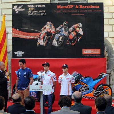 11JUNIO2913 Presentación del GP de Catalunya de Motociclismo. Pilotos de Moto GP. Foto: Manel Martin.