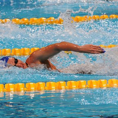 28JULIO2013 España, Francia, Estados Unidos y China protagonistas en el primer día de natación. Melanie Costa. Foto: Manel Martin.