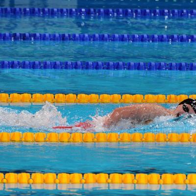 28JULIO2013 España, Francia, Estados Unidos y China protagonistas en el primer día de natación. Katie Ledecky. Foto: Manel Martin.