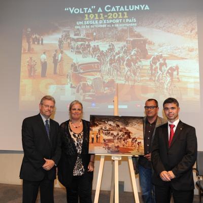 27SEPTIEMBRE2011 Diversas vistas de la exposición de la Volta a Catalunya, en su centenario. Foto: Manel Martin.