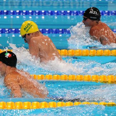 28JULIO2013 España, Francia, Estados Unidos y China protagonistas en el primer día de natación. Foto: Manel Martin.