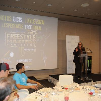 13NOVIEMBRE2012 Presentación del Freestyle Masters de Barcelona-Monster Energy, que se disputa este domingo, en el Palau Sant Jordi. Foto: Manel Martin.