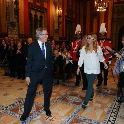 14NOVIEMBRE2013 Anna Tarrés recibe la Medalla de Oro al Mérito deportivo de Barcelona. Foto: Manel Martin.