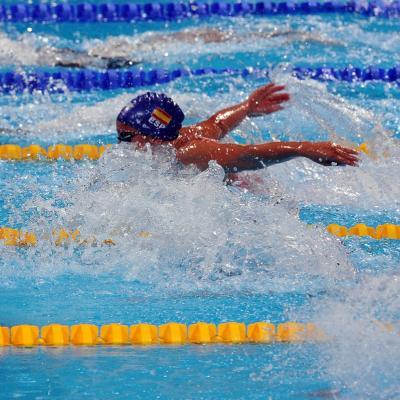 31JULIO2013 Sigue la natación en el Palau, pero el triunfo estuvo en el Moll de la Fusta, con el High Diving.Mireia Belmonte en acción.  Foto: Manel Martin.