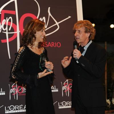 06FEBRERO2012 Galardones al reconocimiento profesional con motivo del 50 aniversario de la trayectoria profesional de Josep Pons. Helena García Melero. Foto: Manel Martin.