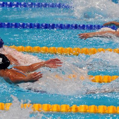 31JULIO2013 Sigue la natación en el Palau, pero el triunfo estuvo en el Moll de la Fusta, con el High Diving.Mireia Belmonte primera.  Foto: Manel Martin.