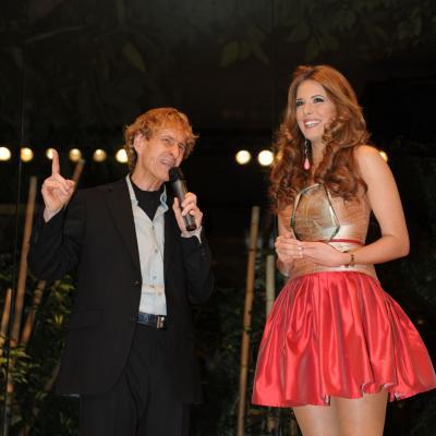 06FEBRERO2012 Galardones al reconocimiento profesional con motivo del 50 aniversario de la trayectoria profesional de Josep Pons.Miss España 2012, Andrea Huisgen. Foto: Manel Martin.