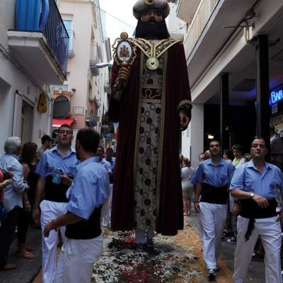 17JUNIO2012 Alfombra  floral en las calles de Sitges. Foto: Manel Martin.