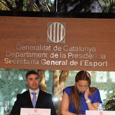 15FEBRERO2012  Rueda de prensa para anunciar su retirada definitiva de la natación sincronizada de Gemma Mengual. Foto: Manel Martin.