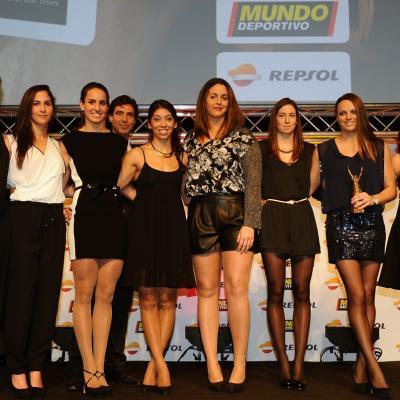 03FEBRERO2014 66ª Gala Mundo Deportivo. Selección Española femenina de waterpolo. Foto: Manel Martin.