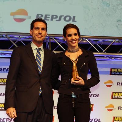 03FEBRERO2014 66ª Gala Mundo Deportivo. Trofeo al liderazgo deportivo, Ona Carbonell. Foto: Manel Martin.