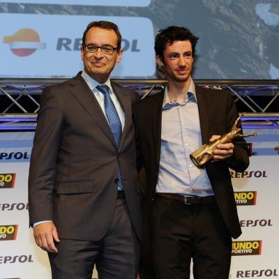 03FEBRERO2014 66ª Gala Mundo Deportivo. Trofeo a la gesta humana deportiva, Kilian Jornet. Foto: Manel Martin.