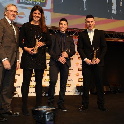 03FEBRERO2014 66ª Gala Mundo Deportivo.Trofeo al mejor deportista calatán, Laia Sanz, Maverick Viñales y Toni Bou.  Foto: Manel Martin.