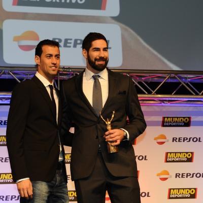 03FEBRERO2014 66ª Gala Mundo Deportivo.Trofeo del mejor deportista de equipo, Nikola Karabatic.  Foto: Manel Martin.