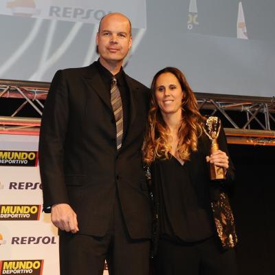 03FEBRERO2014 66ª Gala Mundo Deportivo. Trofeo especial Mundo Deportivo, Selección femenina de basket, recogió Amaya Valdemoro. Foto: Manel Martin.