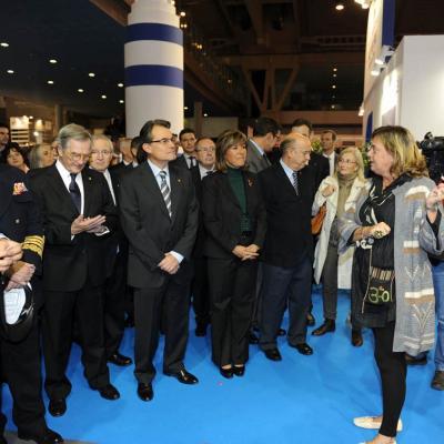 NOVIEMBRE2011 Inauguración del Salón Náutico, exposición en el pabellón y en el Port Vell de Barcelona. Foto: Manel Martin.