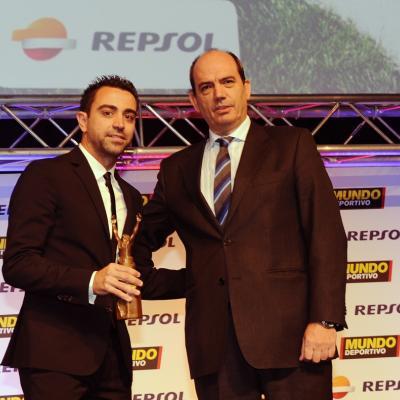 03FEBRERO2014 66ª Gala Mundo Deportivo. Trofeo extraordinario, Xavi Hernández.Foto: Manel Martin.