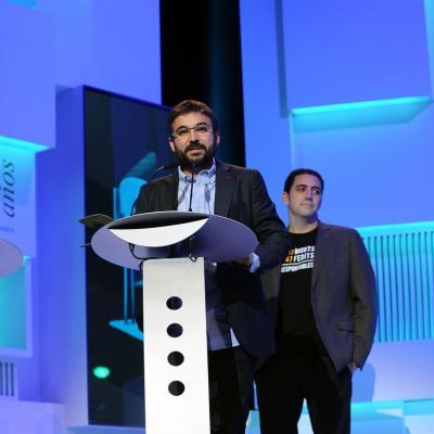 20NOVIEMBRE2013 Premios Ondas, en su 60 aniversario. Jordi Évole por Salvados. Foto: Manel Martin.