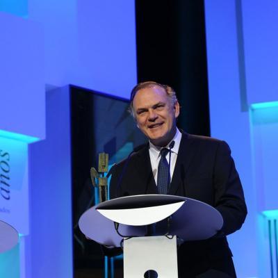 20NOVIEMBRE2013 Premios Ondas, en su 60 aniversario. Pedro Piqueras. Foto: Manel Martin.
