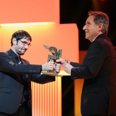 20NOVIEMBRE2013 Premios Ondas, en su 60 aniversario.Iñaki Gabilondo.  Foto: Manel Martin.