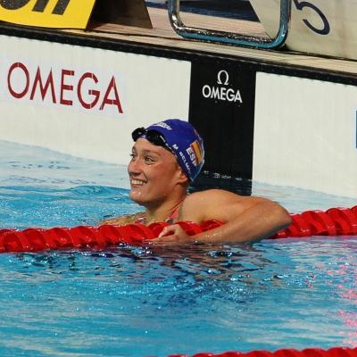 04AGOSTO2013 Clausura y medalla de plata de Mireia Belmonte.400m estilo Mireia Belmonte segunda.  Foto: Manel Martin.
