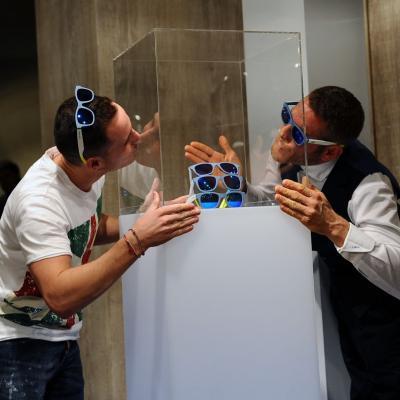 """28NOVIEMBRE2013 Presentación de las nuevas gafas de la firma Italia Independent, colección """"Unique Edition por Pol Espargaró"""". Foto: Manel Martin."""