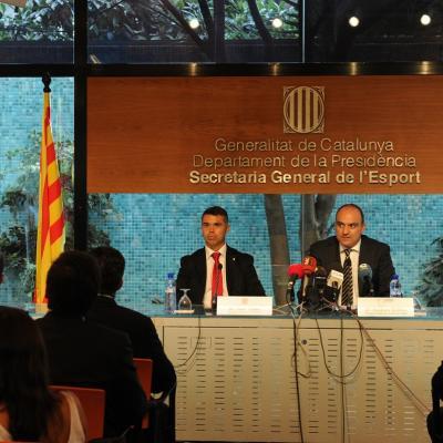 30JULIO2012 Suspensión del partido de la Supercopa Catalana. Foto. Manel Matin.