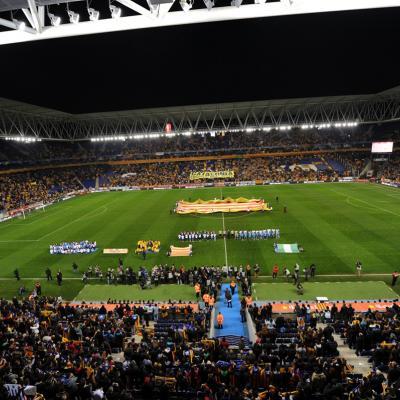 02ENERO2013 Catalunya-Nigeria, fue más una gran fiesta que un bue partido sobre el césped. Foto: Manel Martin.