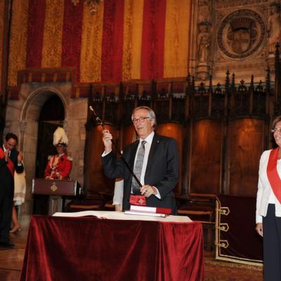 01JULIO2011 Investidura del nuevo alcalde Xavier Trias y constitución del Ayuntamiento de Barcelona. Foto: Manel Martin.
