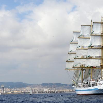 24SEPTIEMBRE2013 Mediterranean Tall Ships Regatta en Barcelona, del 21 al 24. Foto: Manel Martin.