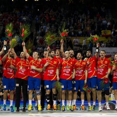 27ENERO2013 España campeona en el Campeonato del Mundo de Balonmano, contra Dinamarca. Foto: Campeonato Mundial de Hanball.