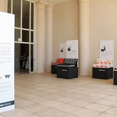 """27JUNIO2016 Exposición """"Encuentros con la moda española"""", de Roche  Bobois. Foto: 080 Barcelona Fashion."""