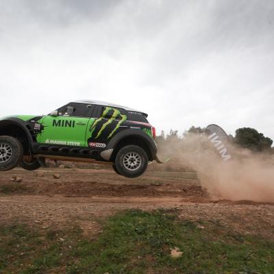 "20DICIEMBRE2012 MINI presentó en la finca ""Les Comes"" al piloto Nani Roma y su MINI AII4 Racing, con el que participará en el Dakar 2013. Foto: BMW."