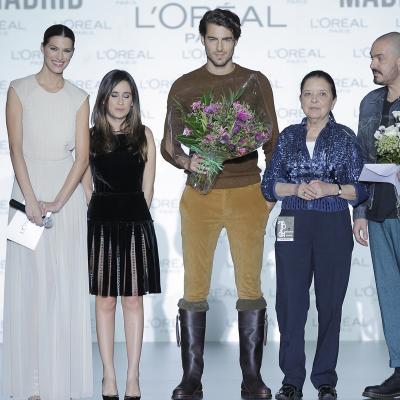 22FEEBRERO2013 Premio L'Oréal para Juan Duyos y al modelo español, Antonio Navas. Foto: MBFWM.