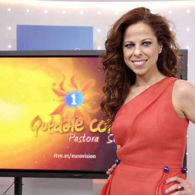 25MAYO2012 Pastora Soler, representante de España, en el Festival de Eurovisión. Foto: RTVE.