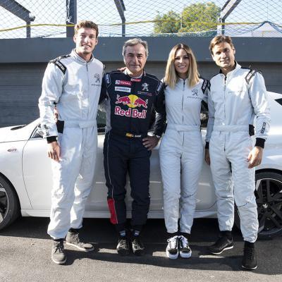 NOVIEMBRE2017 Peugeot 308 GTi conducidos por Pablo Carreño y David Ferrer.