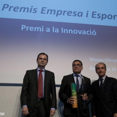 """10JUNIO2013 Entrega de los primeros premios de """"Empresa y Deporte"""". Premio Innovación. Foto: FBO."""
