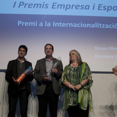 """10JUNIO2013 Entrega de los primeros premios de """"Empresa y Deporte"""". Premio a la internacionalización. Foto: FBO."""