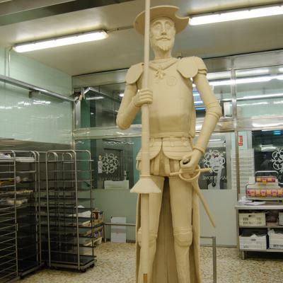 """25ABRIL2016 El Quijote de mazapán """"más grande y dulce del mundo""""."""