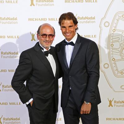 23MAYO2015La Fundación Rafael Nadal celebró en París su primera Gala Internacional.  Rafa Nadal y Richard Mille.